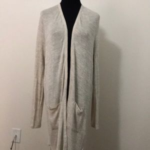 Oatmeal Duster cardigan Sweater Size XL